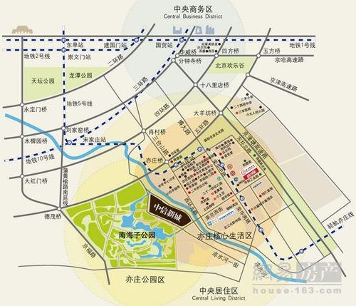 城区位图交通:地铁亦庄线荣京街站下;蒲黄榆路将建成通车,直达图片